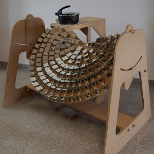 Cociña solar con concentrador parabólico tipo Fresnel